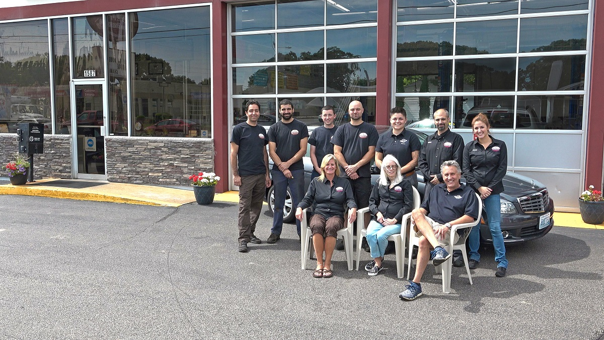 Employment | Elite Auto Repair - The Team outside the Shop